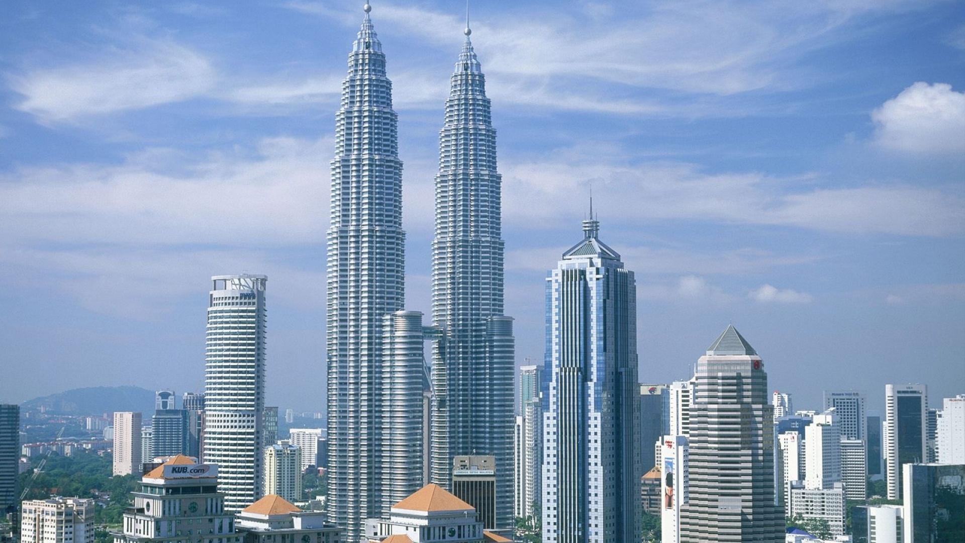 Malaysia Building White Stone Sky Skyscrapers 694 1920x1080